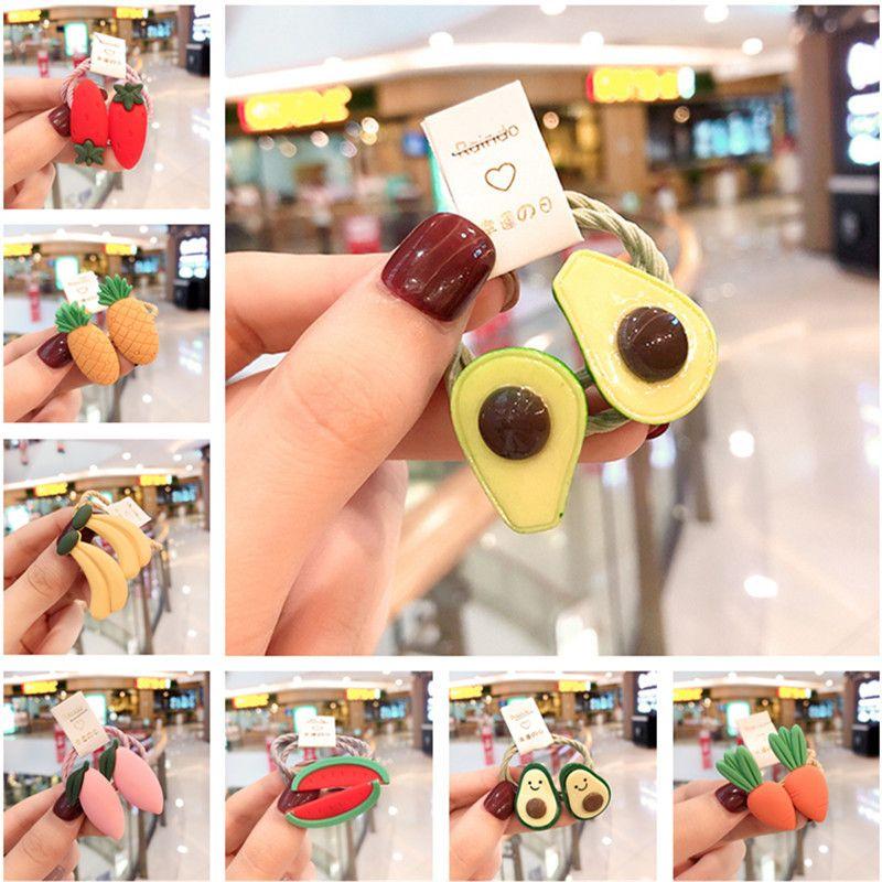 Capelli elastici capretti svegli di frutta Anguria Hairbands banane principessa Copricapo bambini Corde Moda Accessori Bimba copricapo da regalo