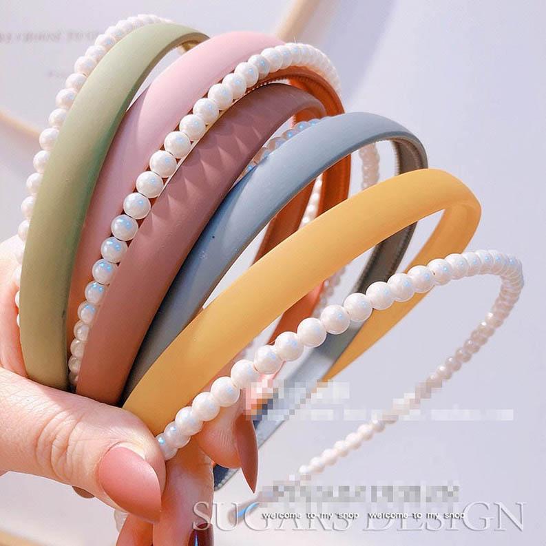 2pcs / set Ins mujeres de perlas accesorios para el cabello pelo palos niñas diseñador diadema de bandas para la cabeza diseñador de las mujeres del diseñador bandas para la cabeza B612