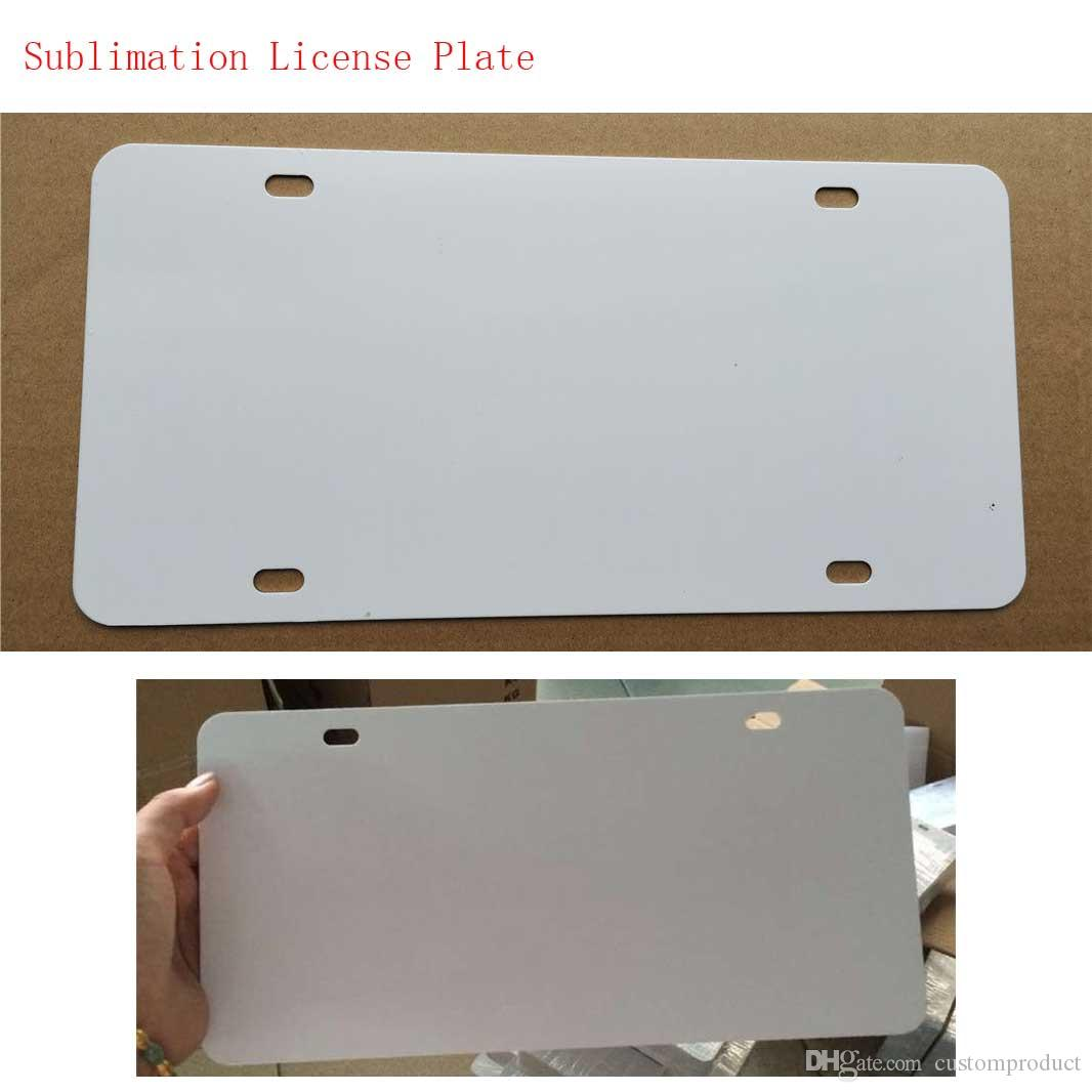 big Promotion sublimation blank metal car License plate materials hot heart transfer printing diy custom consumables 29.5*14.5CM
