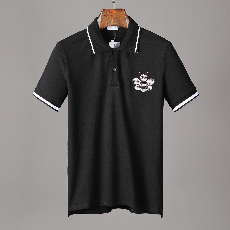 Polo Homme shirt 2020ss Moda Imprimir manga curta Slim Fit Medusa T-shirt Homens Robin Marca Polos Tops com bordados Abelha Polos Casual