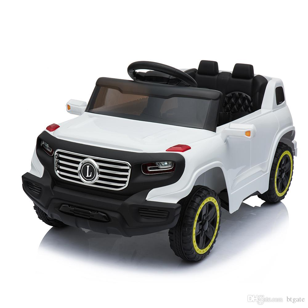 6V Single Drive Toys Car Safety Kids Ride on Car Electric Battery Power Wheels Music and Light Wireless Remote Control 3 Speed US Stock