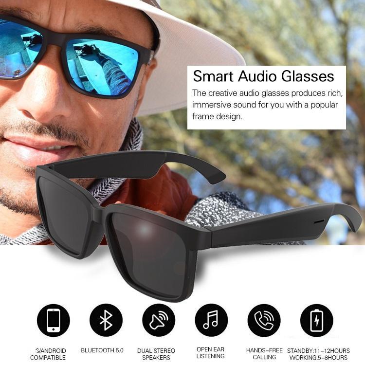 Smart Audio Lunettes de soleil Bluetooth BT5.0 Soutien Phone Call musique Lunettes de soleil sans fil Bluetooth écouteurs du casque de contrôle oreille ouverte