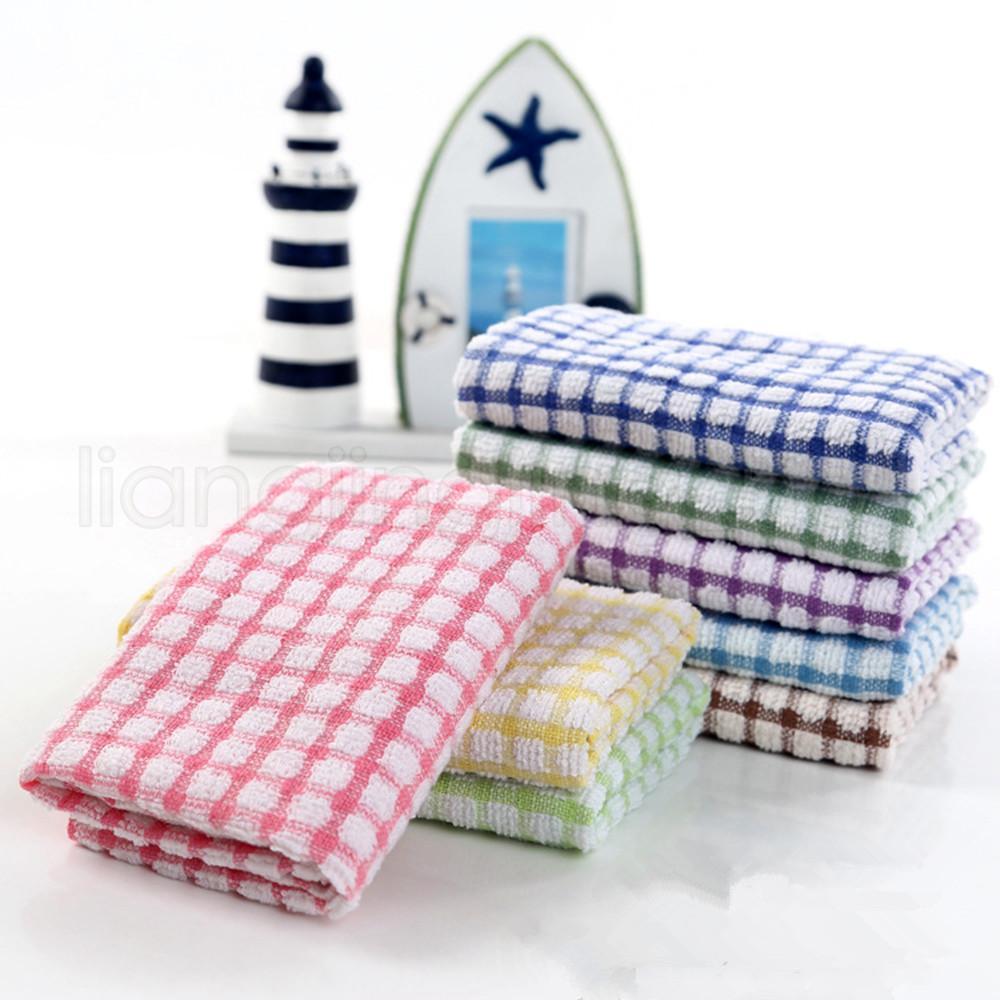 Cucina Piatto asciugamani in cotone morbido su due lati olio assorbente non-stick Bacinella Asciugamani Cucina panno di pulizia Paglietta 27 * 40cm FFA2705-1