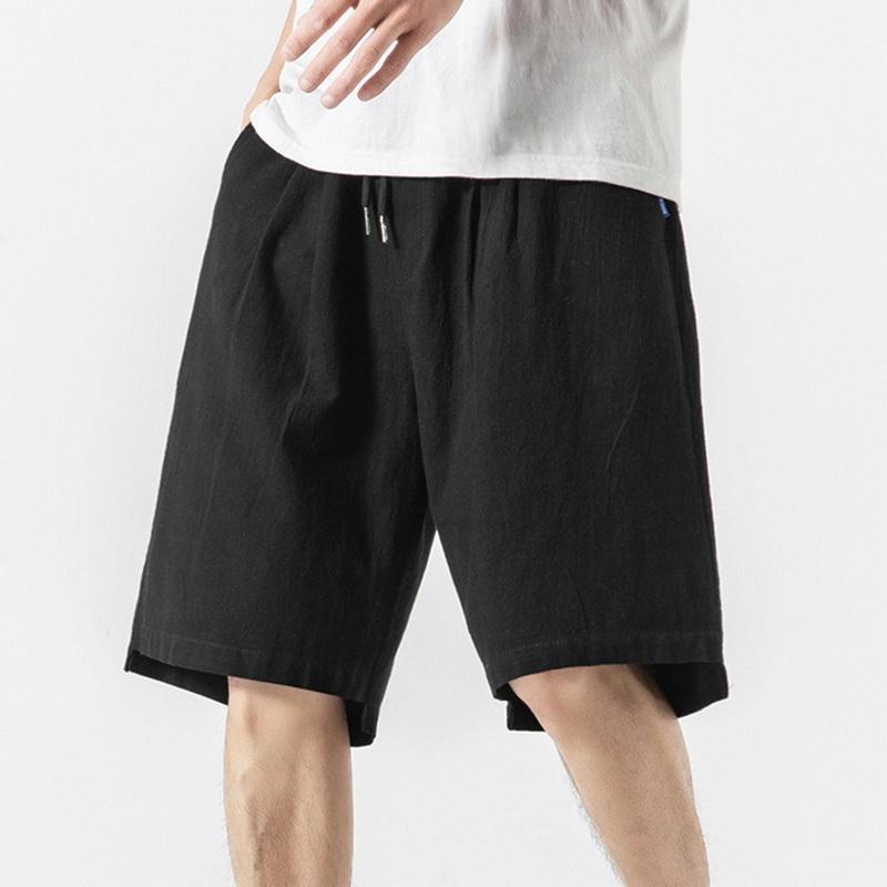 Neue Sommer-feste beiläufige Mens Shorts Plus Size Männer Jogger Shorts Baumwolle Leinen Strand bequem und atmungsaktiv Jogginghose