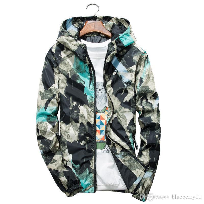 가을 재킷 남성 얇은 재킷 남성 캐주얼 연인 자켓 힙합 윈드 후드 코트 지퍼 파카
