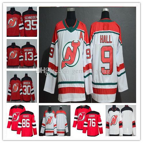 2019 New Jersey Devils Hockey Jack Hughes P.K. Subban Taylor Halle Nico Hischier Martin Brodeur Cory Schneider Greene Alternative Trikots Günstige