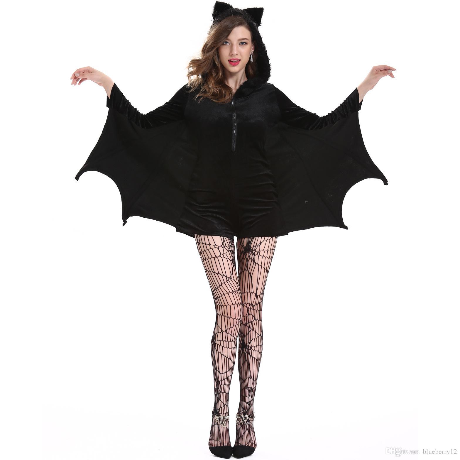 Новый горячий Halloween Cosplay партии Призрак костюм человека костюм вампира Halloween Scare Performance Одежда Носите Suit Взрослые