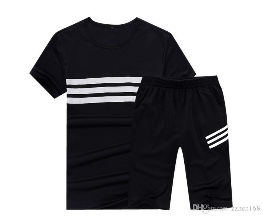 Nuovi 2020 alla moda sportiva casuale del vestito maniche uomini della T-shirt corte e pantaloncini costumi da uomo abbigliamento sportivo da jogging insieme di apprendimento M-4XL due pezzi