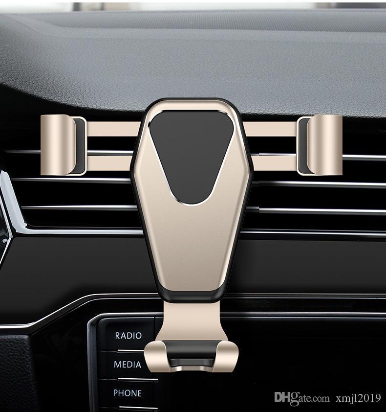 Soporte para coche Teléfono de metal universal de múltiples funciones del montaje de la salida de aire del coche del soporte para el iPhone adapta X 8 Plus Samsung Galaxy S