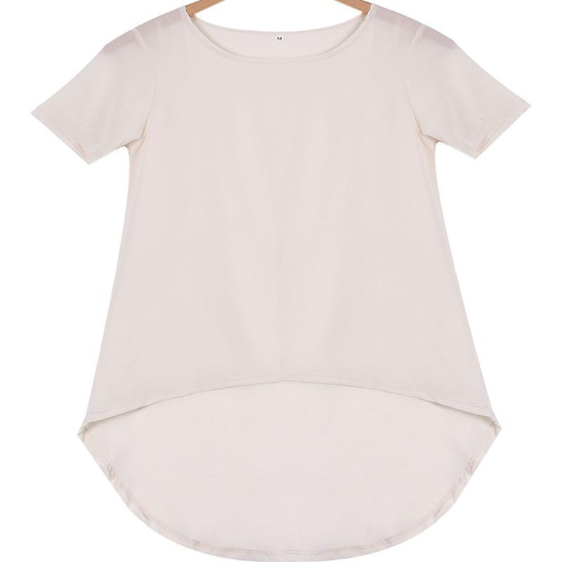 Tempo libero Autunno Chiffon Fashion Plus Size 5XL Black Summer Dimensioni Big Tops Camicia a manica corta 2018 BodyCon Camicia Hot Blusa Femminile SLJTR