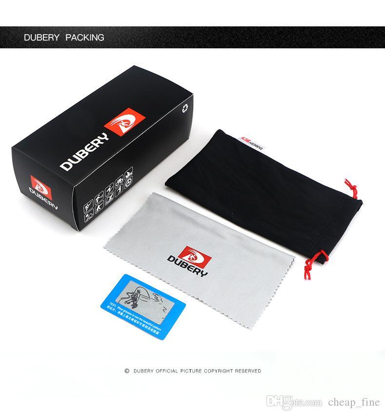 DUBERY Design Polarized HD Sonnenbrillen Paket Box Tasche Brillen Tuch Polarized Light Card