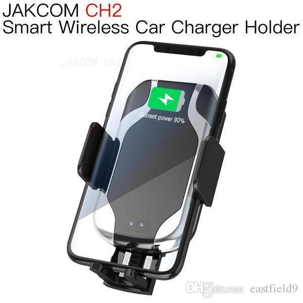 JAKCOM CH2 اللاسلكية الذكية شاحن سيارة جبل حامل الساخن بيع في الهاتف الخليوي الجبال حاملي كما قرص مقبس الهاتف الإلكترونية