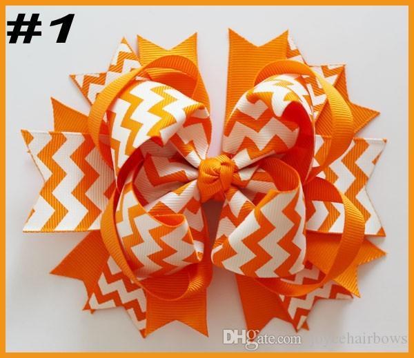 Libres 22pcs envío 5.5 grandes lazos para el cabello accesorios para el cabello pinzas para el cabello niña populares