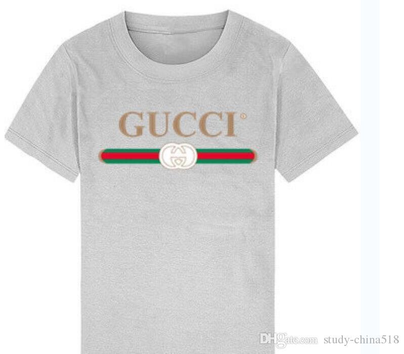 Camiseta de manga corta camiseta de moda de algodón para niños Camiseta de calidad casual camisa de manga corta Camiseta para niños