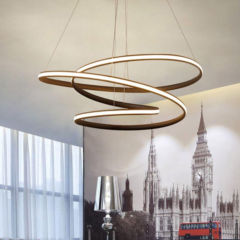Modern LED Kolye avize ışıkları lamba yemek odası oturma odası için lampadario moderno Parlaklık Avize Aydınlatma AC85-265V