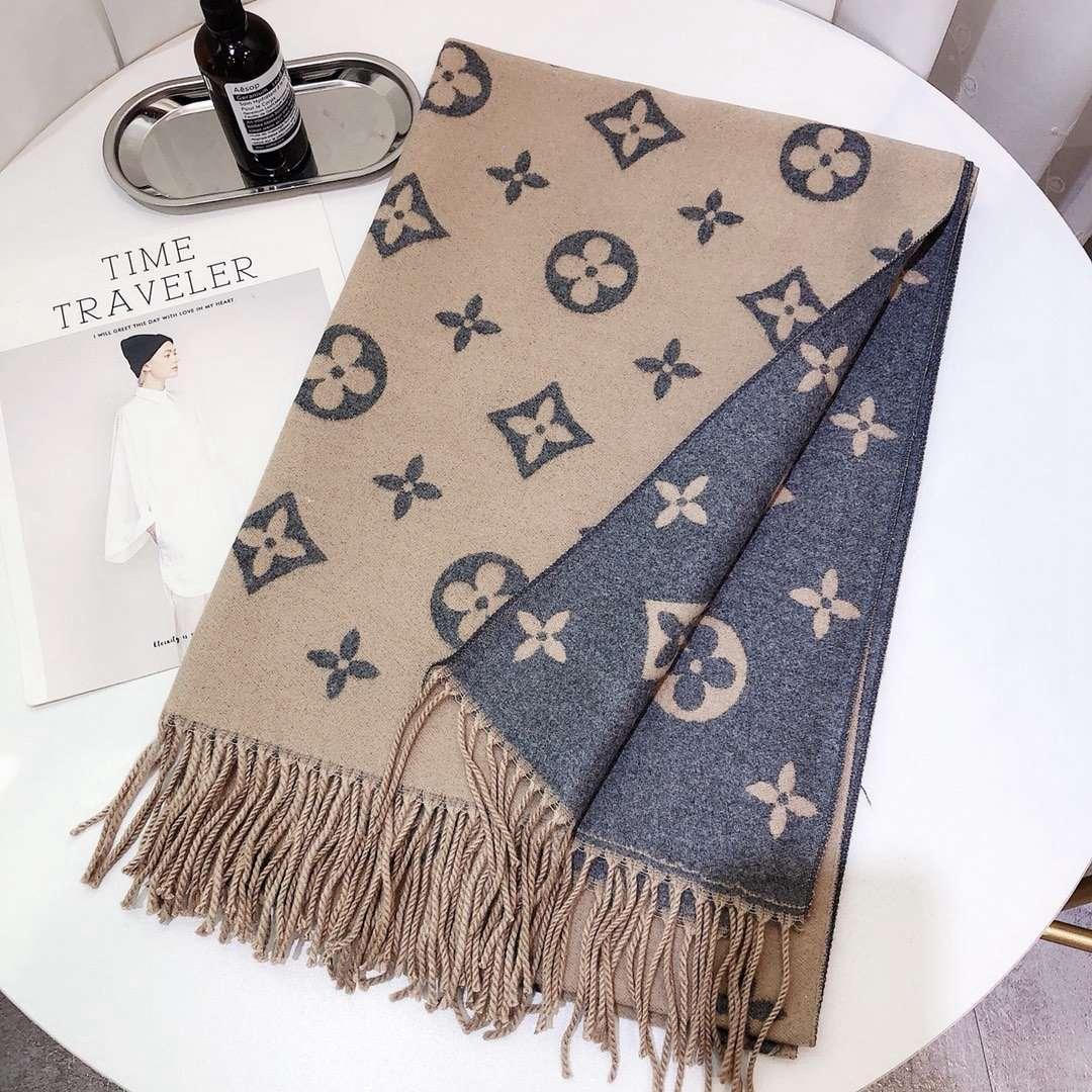 Wholesale- Wollschal Luxus Schal Brief Design-Stil Herbst und Winter Schal Schal 180X70CM echarpe cachecol sciarpa Multicolor