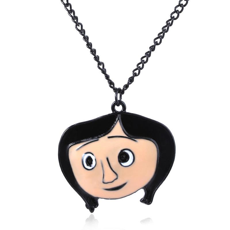 Wholesale New Hot Movies Coraline Necklace Coraline Avatar The Secret Door Necklace For Woman Halloween Gift Jewelry Pendant White Gold Necklace Diamond Pendant Necklace From Qiuyuezhong 35 02 Dhgate Com