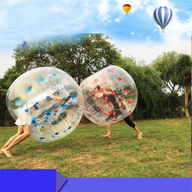 Açık Spor Şişme Kabarcık Futbol İnsan Hamster Topu 1.5 M PVC Tampon Vücut Takımı Loopy Bubble Futbol Zorb Topu Satılık
