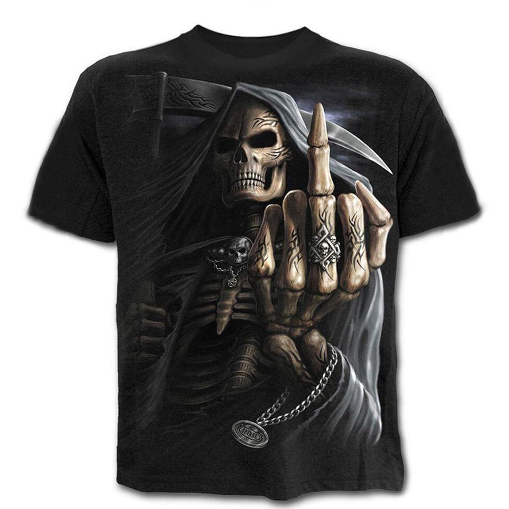 Sommer-neue lustige Schädel 3D-T-Shirt Sommer-Hipster Kurzarm T-Shirt Tops Männer / Frauen-Druck-T-Shirts Freizeit Homme Kurzarmshirts