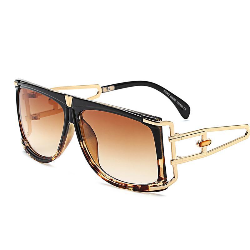 wholesale 2019 New Oversized Square Fashion Sunglasses Women Vintage Color Frame Gradient Clear Original Exquisite Sun Glasses K32081