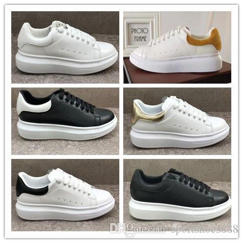 Moda Gerçek Deri Tasarımcısı Sürüş ayakkabı Lüks Marka Erkekler Kadınlar Düşük Kesme Beyaz Dantel-up Casual Açık Zapatos Sneakers loafer'lar 35-44