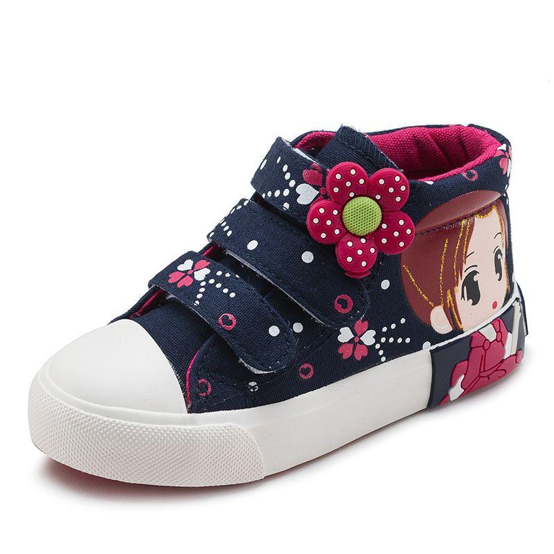 Children Casual Shoes Girls Princess 2018 Spring Autumn Kids Canvas Shoes Girls Sneakers Princess Girls Kids Sport Sneaker
