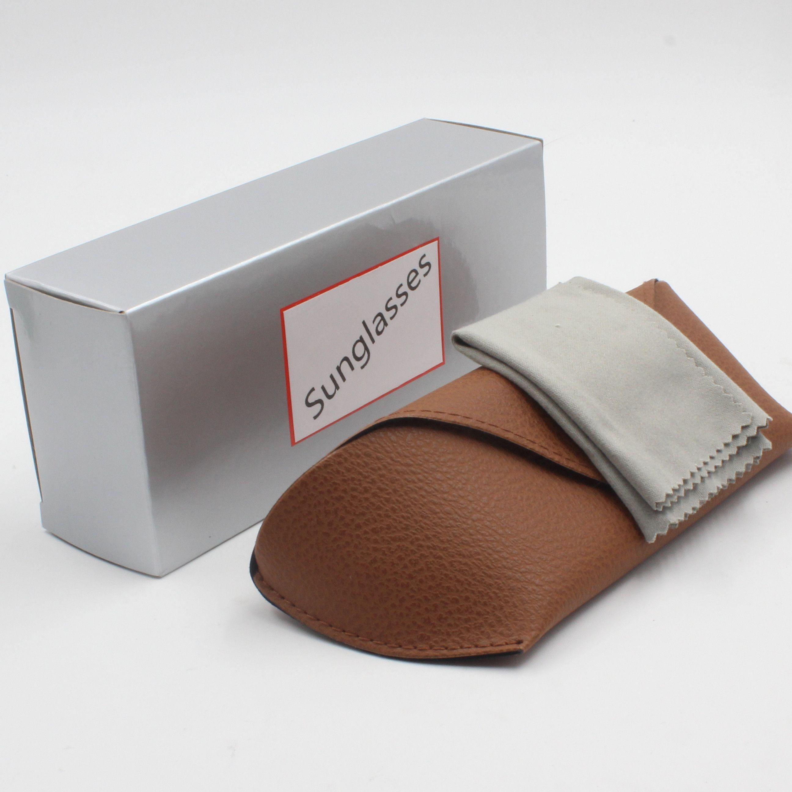 Atacado-Novo de proteção da lente moda de alta qualidade retro designer de marca senhora macho quadro sungla 50 milímetros marrom vidro UV400 caixa marrom