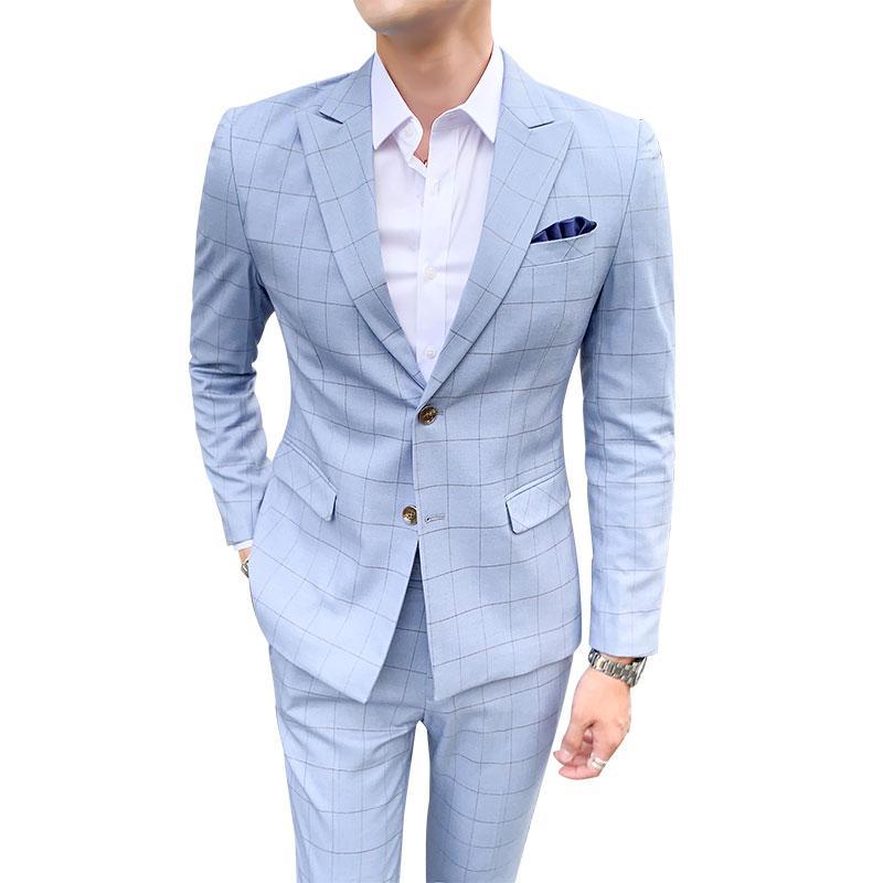 دعوى أزياء الرجال الجديد منقوشة الأعمال سهرة فاخرة عارضة العريس الدعاوى الزفاف يمكن تخصيص A72
