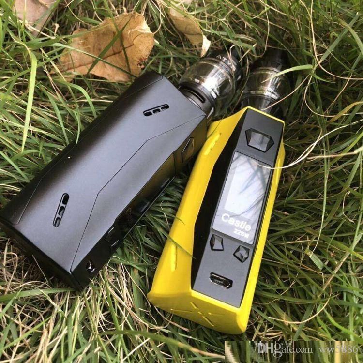 Nuovo ATVS Castle 225W Kit con 5 ml SR-11 serbatoio Vape atomizzatore VW TC E Cigarette massiccia nuvola di vapore Starter Kit
