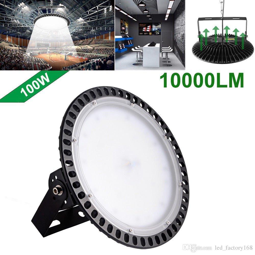Slim UFO LED High Bay Light 100W 200W 300W lamp Factory Warehouse Industrial Lighting 6000-6500K Waterproof Dust Proof Warehouse LED Lights