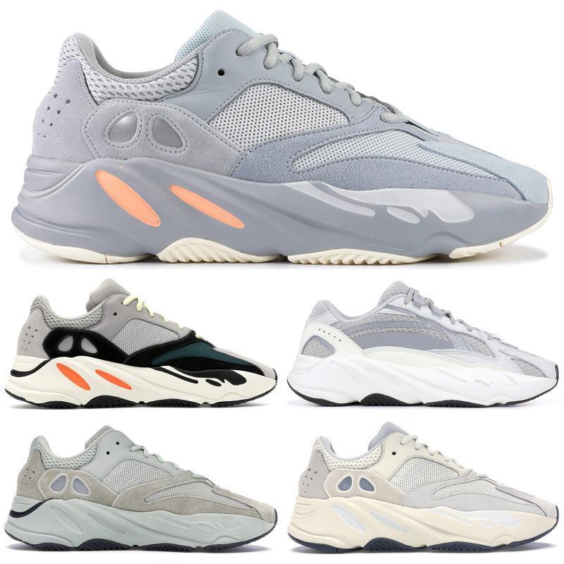Kutusu ile Vanta Atalet Kanye West Dalga Statik 3M Yansıtıcı leylak Katı Gri 700 Runner Koşu Spor ayakkabılar Tasarımcı Ayakkabı