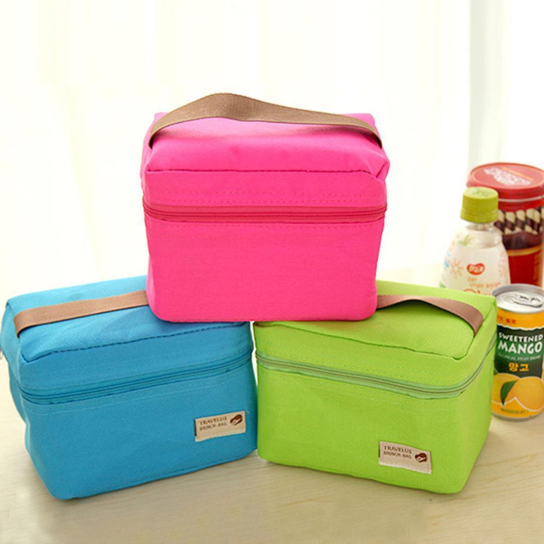 Taşınabilir Isı Yalıtımlı Lunch Box Saklama Torbası Su geçirmez Piknik Carry Büyük Çantalar Yeşil Mavi Gri