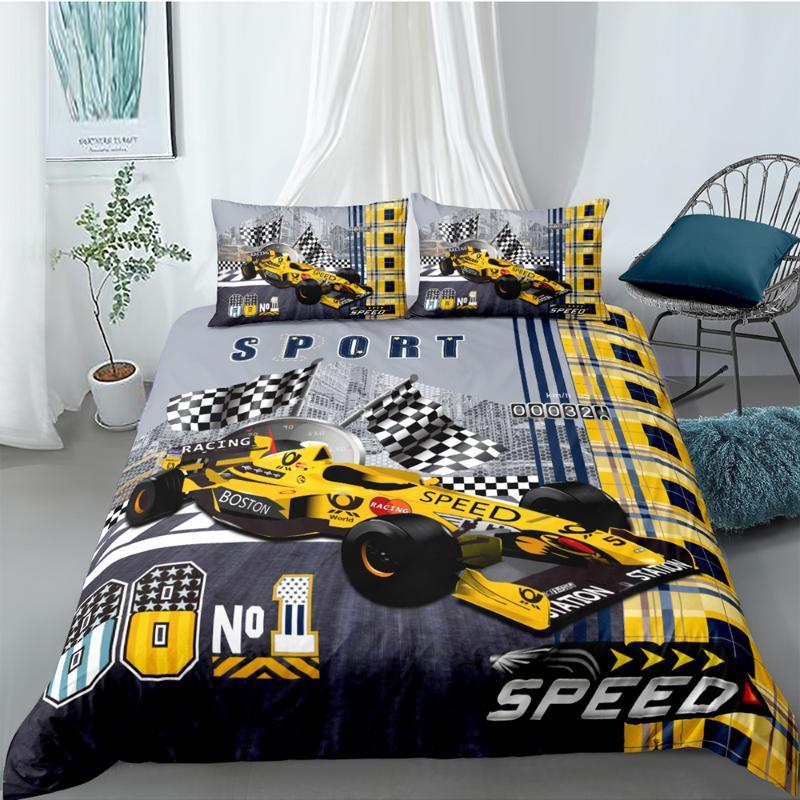 킹 사이즈 침구 세트 4×4 경주 세련된 3D 멋진 깃털 이불 덮개는 높은 최종의 여왕 쌍 전체 단일 두 번 독특한 디자인이 침대 세트