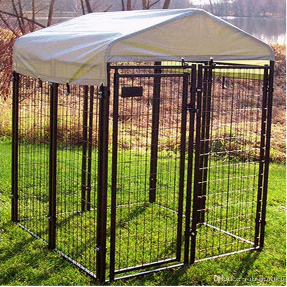 2019 Wholesale Cheap Welded Wire Mesh Large Dog Cage Manufacturer Hot Sale  Black Powder Coated Welded Dog Cages By Factory From Daiqiang666, $35 18 |