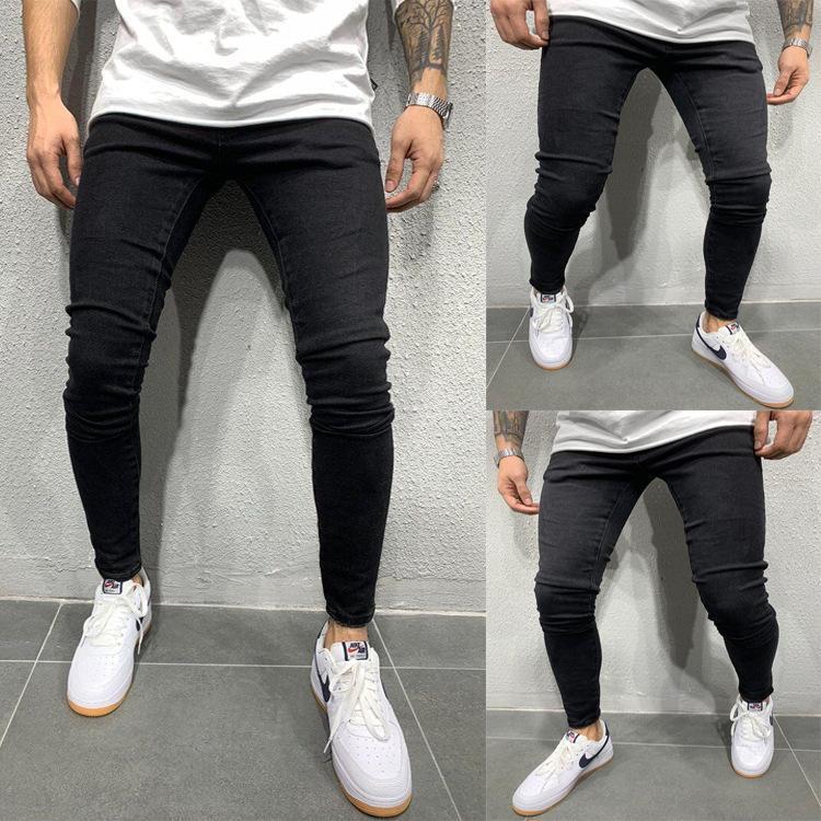 Elasticidade Homens Skinny Jeans 2020 Mais recente de tamanhos Homens Estilo Preto Cor S-3xl Além disso jeans calças dos homens Fashions