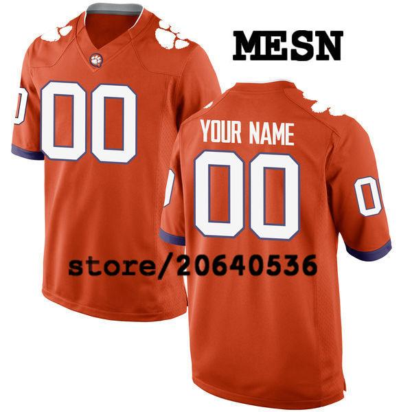 e62925233 Cheap Custom Clemson Tigers College jersey Mens Women Youth Kids  Personalized Any number of any name