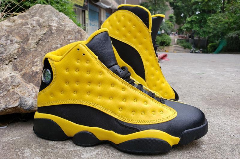 Arrivée Jumpman 13 Ray Allen PE Celtics 2020 Lakers GiGi 13s jaune la meilleure qualité en gros Hommes enfants Chaussures de basket-ball