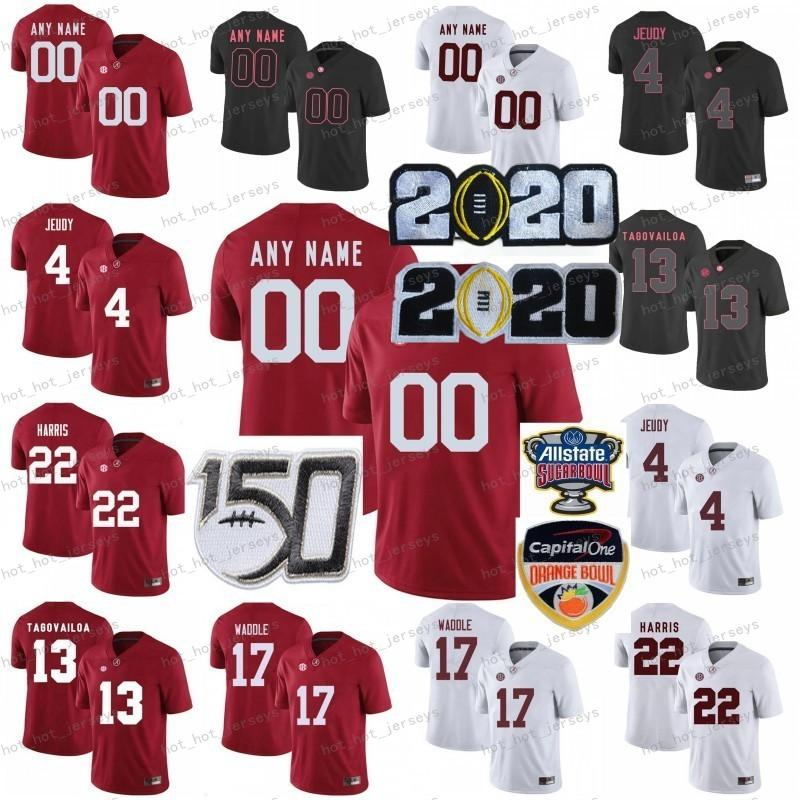 NCAA Alabama Crimson Tide College Football Jerseys Kids Youth Tua Tagofovailoa Jersey Jerry Jeudy Jaylen Waddle Najee Harris Red Personalizzato 2020