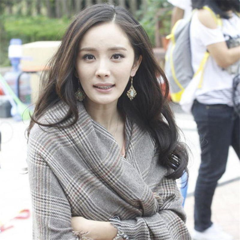 Women Men Plaid Scarf Fashion Tassel Warm Shawl Yang Mi Shawl Scarf Wide Classic Scarf Girl Wrap Shawl