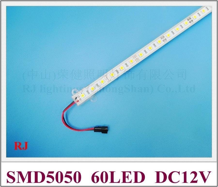 Luz de tira rígida LED 5050 LED Gabinete de barra de luz Luz 100 cm 60 LED SMD5050 DC12V Envío gratis