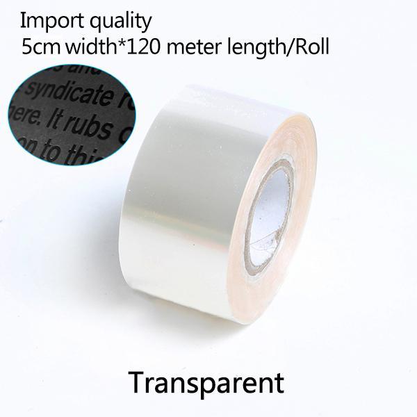 5см Ширина * 120Meter / Transparent серебряная фольга Рулоны кожа бумага Горячее тиснение фольгой бумаги теплопередача анодированного позолоченного бумаги Бесплатная доставка
