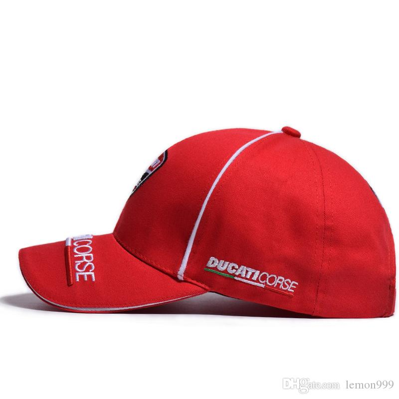 5ad307b5f349df ... Peaked Caps Motorcycle Baseball Caps Ducati Embroidery Snapback Hat  Fashion Outdoor Sports Hat F1 Racing Caps ...