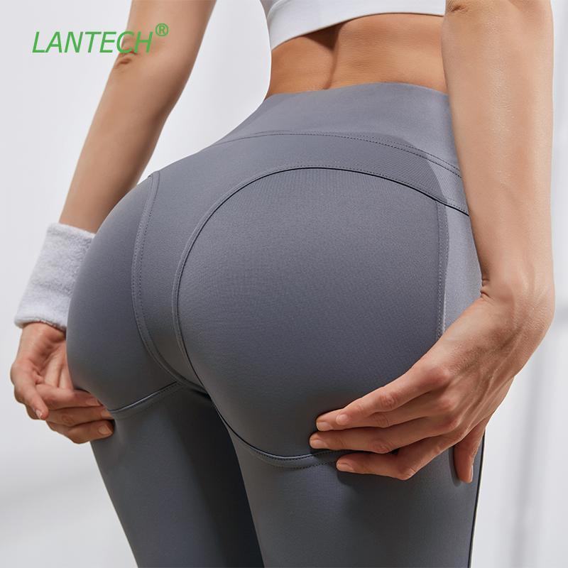 LANTECH Yoga Femmes Pantalons Sport Fitness Course exercice Pantalons Gym Slim leggings Compression Tour de hanches Sexy Push Up taille haute