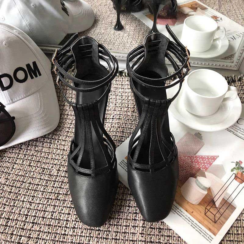 Moda Mujer Zapatos de piel de cordero laminado de oro de las sandalias de cabeza cuadrada abrigo del tobillo de la hebilla de la correa de los tacones altos de verano sandalias de Baotou 9 cm Mujer