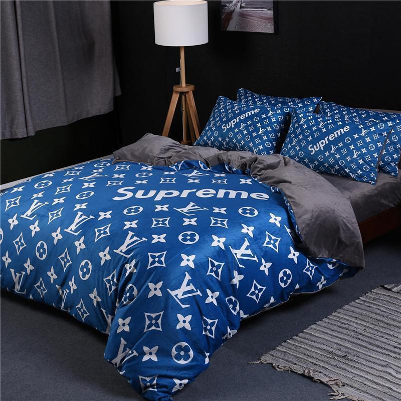Blue Velvet Bedding Set Bedding Design Ideas