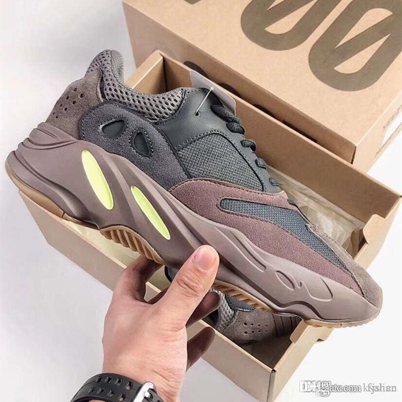 Ufficiale bambini delle ragazze del ragazzo di moda Kanye West corridore dell'onda 700 V2 statici Malva donne di sport pattini correnti degli uomini Deserto Rat 500/700 Sneakers