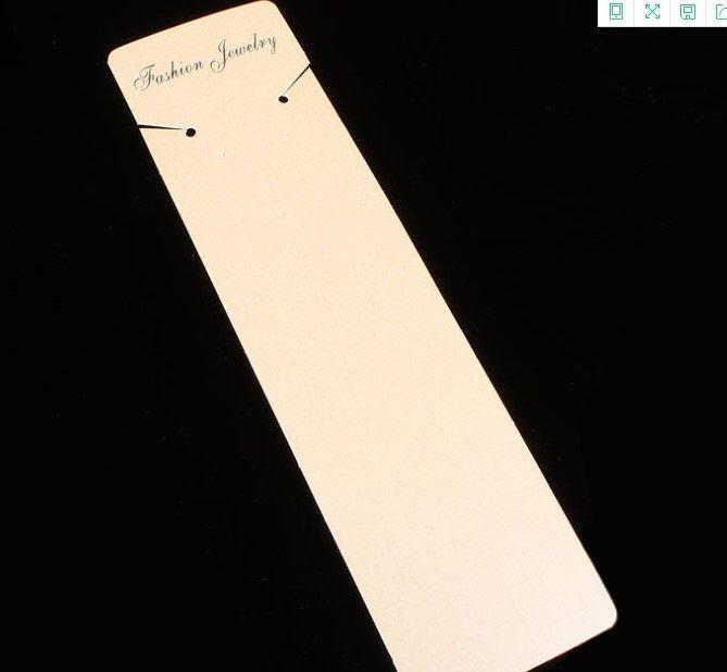2020 vente chaude Emballage papier carte Emballage de bijoux Collier en carton beige nacrée carte carte papier 5.5cm * 21cm