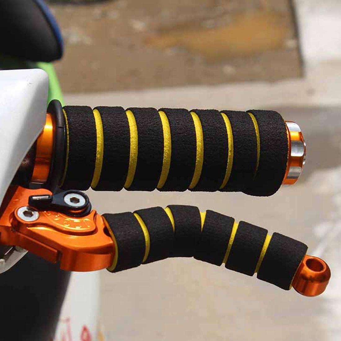 1Pair Nonslip MTB Bike Motorcycle Handlebar Soft Sponge Foam Grips Cover Hot UK