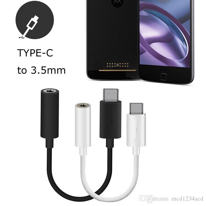 النوع C ذكر إلى 3.5 ملليمتر جاك أنثى خط كابل محول الصوت لسامسونج S8 S9 S10 HTC LG Android الهاتف