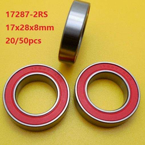 17x28x7mm Rubber Sealed Ceramic Ball Bearing 17287 2RS Ball Bearing